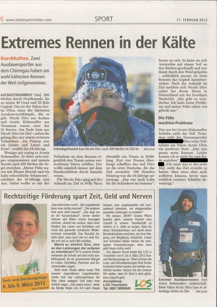 Bericht Chiemseenachrichten